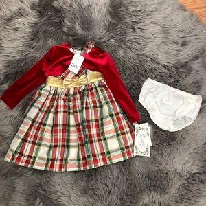 Iris & Ivy | Christmas Plaid Dress | Size 24M